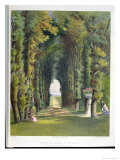 "Vista in the Gardens of Teddesley, from ""Gardens of England,"" Published 1857 Giclee Print by E. Adveno Brooke"