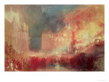 The Burning of the Houses of Parliament, 16th October 1834, 1839 Giclee Print by William Turner