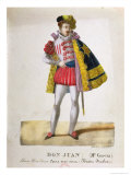 "Costume for Monsieur Garcia in the Role of Don Juan in the Opera ""Don Giovanni"" Giclee Print by Gottfried Engelmann"