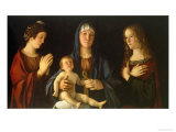 Virgin and Child with St. Catherine and Mary Magdalene, circa 1500 Giclee Print by Giovanni Bellini