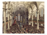 "St. Martins in the Fields, from ""Ackermann"" Giclee Print by T. & Pugin Rowlandson"