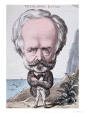 Victor Hugo on Jersey Rock, 1867 Giclee Print by Etienne Carjat