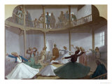 "Dance of the Whirling Dervishes, Illustration from ""L'Egypte Moderne,"" circa 1870 Giclee Print by Henri De Montaut"