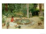 The Flower Garden, 1899 Giclee Print by Ricardo Brugada Y Panizo
