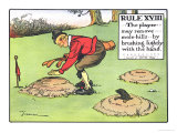 Rule XVIII: the Player...May Remove...Mole-Hills...By Brushing Lightly with the Hand... Giclee Print by Charles Crombie