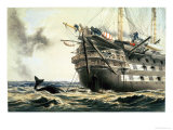 "Hms Agamemnon Laying the Original Atlantic Cable, from ""The Atlantic Telegraph"" Giclee Print by Robert Dudley"