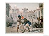 Slaves Making a Street in Rio De Janeiro Giclee Print by Jean Baptiste Debret