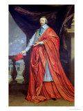 Portrait of Armand-Jean Du Plessis, Cardinal Richelieu Giclee Print by Philippe De Champaigne