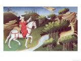 The Great Khan Releases His Eagle Against a Doe Lmina gicle por Boucicaut Master