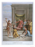 The Judgement of Solomon, Illustration from a Catechism, circa 1860 Giclee Print by Etienne Ronjat