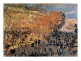 "Study for ""The Boulevard Des Capucines,"" 1874 Giclee Print by Claude Monet"