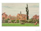 Church and Parsonage, Bedford Park, 1881 Giclee Print by Frederick Hamilton Jackson