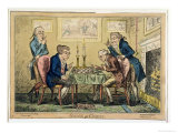 Game of Chess, Published by H. Humphrey, London Giclee Print by George Cruikshank