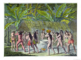 """Dance of the Camacani Indians, Brazil, from """"Le Costume Ancien Et Moderne"""" Giclee Print by D.k. Bonatti"""