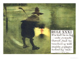 Rule XXXI: If a Ball Lie in Fog Giclee Print by Charles Crombie