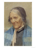 Study of an Old Woman, 1912 Giclee Print by Frank Richards