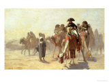 General Bonaparte with His Military Staff in Egypt, 1863 Reproduction proc&#233;d&#233; gicl&#233;e par Jean-L&#233;on G&#233;r&#244;me