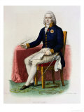 Portrait of Charles Maurice De Talleyrand-Perigord at His Desk Giclee Print by Julien Leopold Boilly