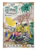 St. Francis Xavier Dying at Sancian, China, and the Church Built on His Place of Death Giclee Print