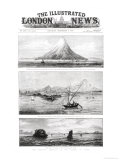 "The Island of Krakatoa, Front Cover of ""The Illustrated London News,"" 8th September 1883 Giclee Print"