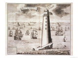 The Eddystone Lighthouse Giclee Print by Isaac Sailmaker