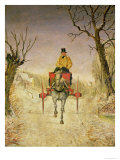 Mail Cart, Christmas Giclee Print by R.r. Ripley