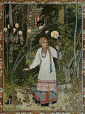 "Vassilissa in the Forest, Illustration from the Russian Folk Tale, ""The Very Beautiful Vassilissa"" Giclée-Druck von Ivan Bilibin"