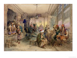 A Coffee House, Constantinople, 1854 Giclee Print by Amadeo Preziosi