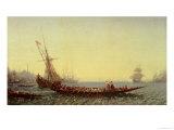 Harbour in Constantinople, 1880s Giclee Print by Felix Ziem