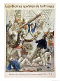 "Robert Surcouf (1736-1827) Successfully Boarding the ""Kent"" Giclee Print by Pierre Mejanel"