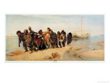 Convicts Pulling a Boat Along the Volga River, Russia, 1873 Reproduction procédé giclée par Ilya Efimovich Repin