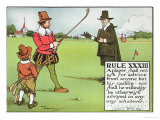 Rule XXXIII: A Player Shall Not Ask for Advice from Anyone But His...Caddie Giclee Print by Charles Crombie