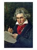 Ludwig Van Beethoven, 19th Century Giclee Print by Joseph Karl Stieler