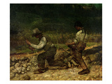 The Stonebreakers (Oil) Reproduction giclée Premium par Gustave Courbet