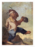 Dwarf Holding a Jug Giclee Print by Jacques Callot