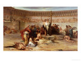 Triumph of Faith, Christian Martyrs in the Time of Nero, 65 AD Giclee Print by Eugene Romain Thirion