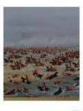 Battle of Tuyuti, from the Paintings Depicitng the Triple Alliance War, 1866 (Detail) Giclee Print by Candido Lopez