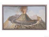 Interior of the Cone of Vesuvius Before the 1767 Eruption Giclee Print by Pietro Fabris