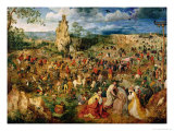 The Road to Calvary, 1564 Lmina gicle por Pieter Bruegel the Elder