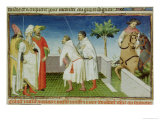 Nicolo, Marco and Matteo Polo Taking Leave of the Great Khan Giclee Print by  Boucicaut Master