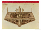 Cross-Section of a Slave Ship, from a Manuscript on Slavery, Late 18th Century Giclee Print by Jacques-henri Bernardin De Saint-pierre