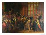 Charles I Demanding the Five Members in the House of Commons in 1642 Giclee Print by John Singleton Copley