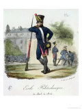 A Pupil in Military Uniform from the Ecole Polytechnique, 1803-14 Giclee Print by Francois Seraphin Delpech