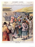 "Disturbances in Seoul, Cover of ""Le Petit Journal,"" 13th August 1894 Giclee Print by Frédéric Théodore Lix"