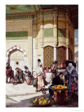 Street Merchant in Istanbul, 1883 Giclee Print by Hippolyte Berteaux
