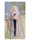 St. Bridget of Sweden Illustration from a Book on Famous Women of Sweden, 1900 Giclee Print by Carl Larsson