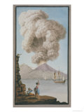 Eruption of Vesuvius, Monday 9th August 1779 Giclee Print by Pietro Fabris