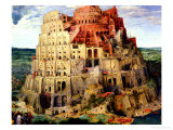 Tower of Babel, 1563 (Detail) Giclée-Druck von Pieter Bruegel the Elder