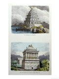 The Great Lighthouse of Alexandria and the Mausoleum at Halicarnassus Giclee Print by Ferdinand Knab