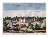 Encampment on the Land of J. Slaber at Thee-Fontyn Giclée-Druck von Francois Le Vaillant